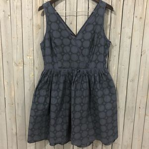 Tommy Hilfiger Navy Eyelet Dress